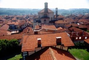 i tetti sotto il castello