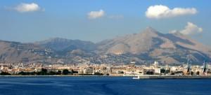 Veduta di Palermo vista dal mare.