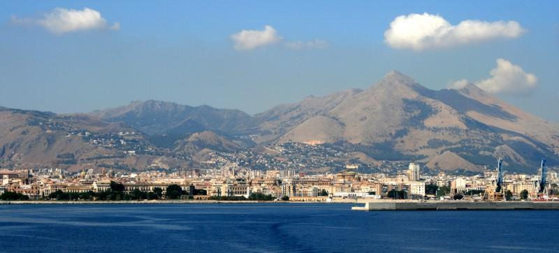''Veduta di Palermo vista dal mare.'' - Palermo