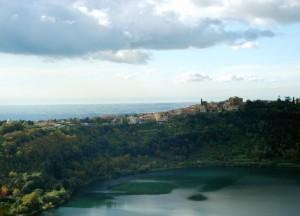 Panorama su Genzano: quasi un istmo