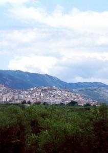 Il paese di Carpino sul Gargano