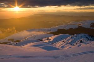 Monte Grappa tra le nuvole e la neve