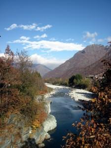 panorama dal ponte sul Sesia
