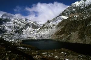 montagne della valle orco e il lago agnel