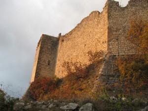 il sole del tramonto illumina il castello …