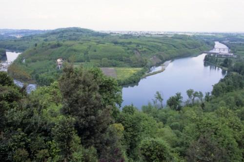 Mazzè - panorama dal castello
