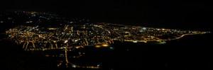 Panorama notturno di Mondragone