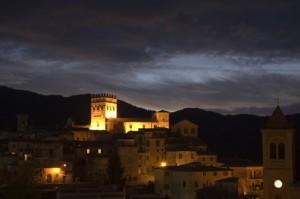 Roviano - Il tramonto sul castello brancaccio
