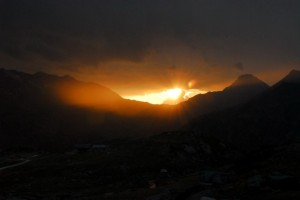 Valgrisenche, tramonto