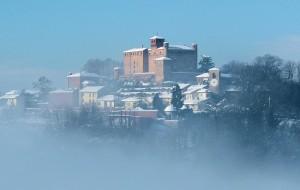 Castello di Bardassano dopo la nevicata
