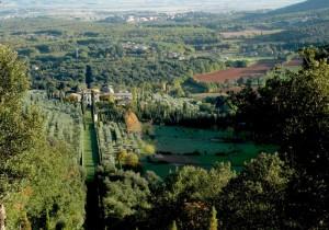 Panorama con la villa del Cetinale