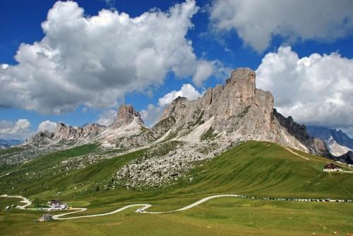 Colle Santa Lucia - panoramica del Passo Giau