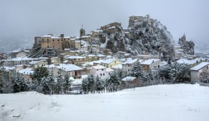 Bagnoli del Trigno panorama sud neve
