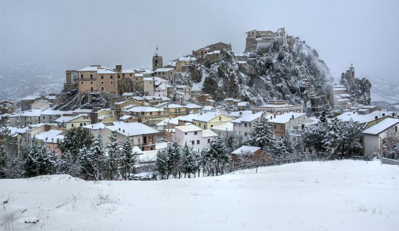 ''Bagnoli del Trigno panorama sud neve'' - Bagnoli del Trigno