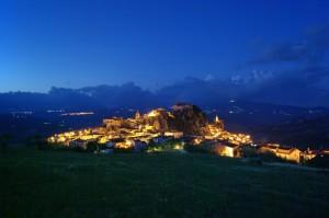 Bagnoli del Trigno panorama notturno sud