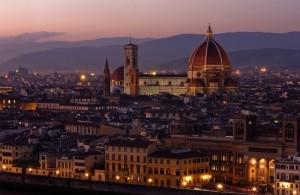 Firenze:     è sera …………………………