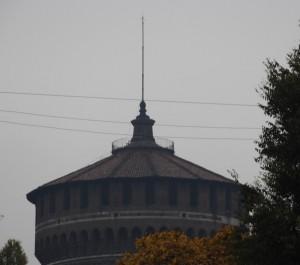 Torre lato via Gadio (particolare)