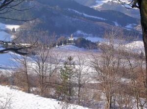 Panoramica innevata dal Monte Busca