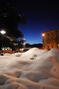 la stazione di neve