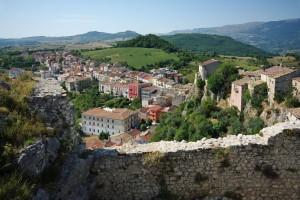 Bagnoli del Trigno panorama da interno castello
