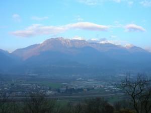 La Valsugana a Scurelle e in alto i Lagorai