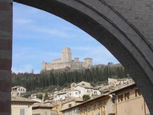 Assisi - Rocca maggiore da S.Chiara