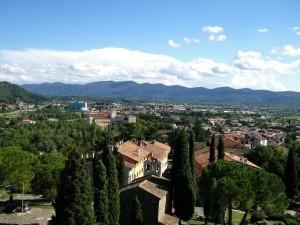 Gorizia , panorama verso la frontiera