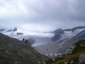 Diga e ghiacciaio del Sabbione