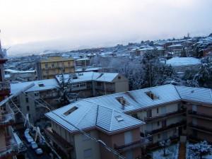 Nevicata ad Acireale