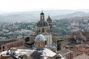 """ MACERATA "" fotografata dalla torre civica"
