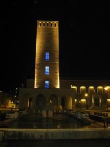 la torre maggiore e la sua fontana