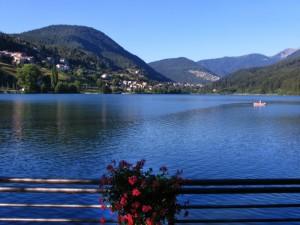 Il lago Serraia a Baselga di Pinè