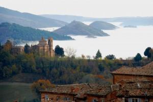 """"""" Mare di nebbia"""" dalla fortezza di Albornoz"""