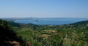 Veduta sul lago di Bolsena