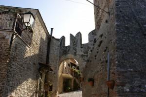 Particolare del castello Savelli a Palombara