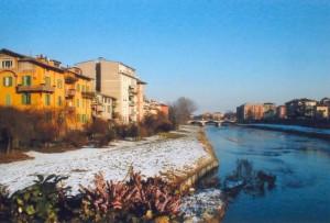 Panorama invernale sul Torrente Parma