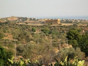 Vista sulla Valle dei Templi di Agrigento