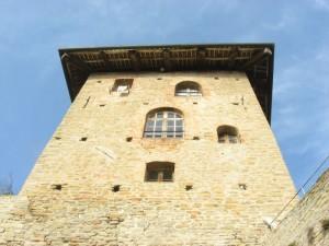 Particolare del castello di Serralunga d' Alba