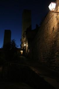 Torri di San Gimignano di notte