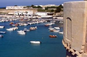 Il porticciolo di Otranto dal castello