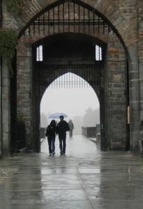un giorno di pioggia al castello sforzesco