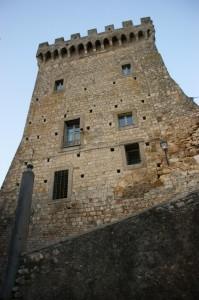 Il lato visibile del castello