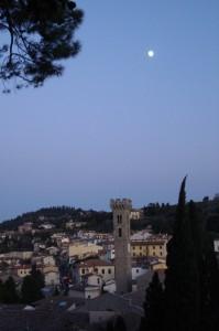 Fiesole all'ora blu con luna !
