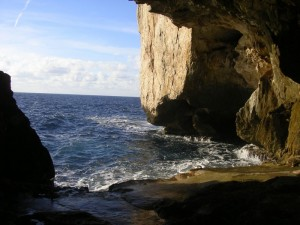 vista dalla grotta