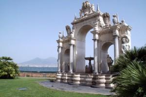 L'Acqua ed il fuoco - Il Vesuvio e la fontana