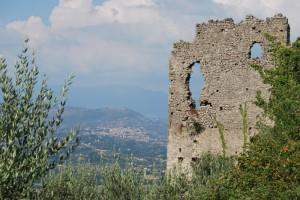 La Rocca di Morolo e il paesaggio verso valle