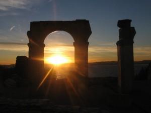 Groptte di Catullo al tramonto