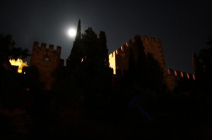 Mura di Soave by night