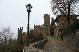 In salita verso il castello…
