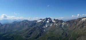 Veduta dal ghiacciaio di Similaun (Maso Corto)